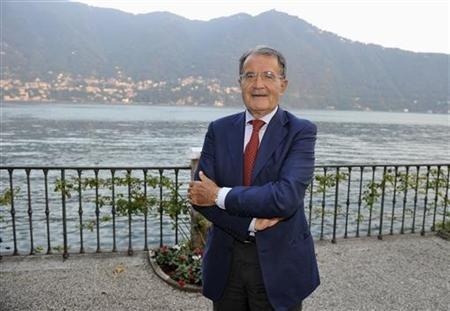 Former Italian Prime Minister Romano Prodi attends the Ambrosetti workshop in Cernobbio, next to Como September 7, 2012. REUTERS/Paolo Bona