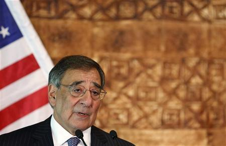 U.S. Secretary of Defense Leon Panetta speaks next to New Zealand's Minister of Defence Jonathan Coleman (not pictured) as they hold a joint news conference at the Government House Pavilion in Auckland September 21, 2012. REUTERS/Larry Downing