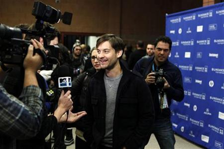 Cast member Tobey Maguire arrives for the premiere of ''The Details'' during the Sundance Film Festival in Park City, Utah January 24, 2011. REUTERS/Lucas Jackson/Files