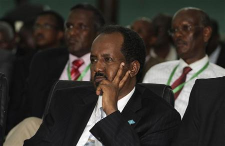 Somalia's newly elected President Hassan Sheikh Mohamud listens to proceedings after winning the election, in Mogadishu September 10, 2012. REUTERS/Omar Faruk