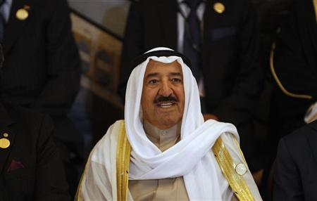 Kuwait's Emir Sheikh Sabah al-Ahmad Al-Sabah smiles during the opening session of the 23rd Arab League summit in Baghdad March 29, 2012. REUTERS/Saad Shalash