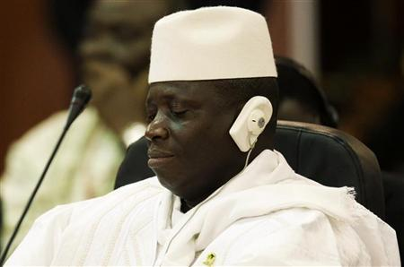 Gambia's Al Hadji Yahya Jammeh attends the plenary session of the Africa-South America Summit on Margarita Island September 27, 2009. REUTERS/Jorge Silva