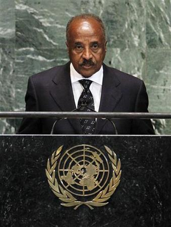 Minister for Foreign Affairs of Eritrea, Osman Mohammed Saleh, addresses the 67th United Nations General Assembly at the U.N. Headquarters in New York, October 1, 2012. REUTERS/Lucas Jackson
