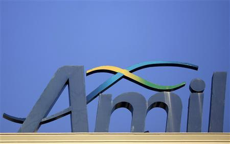 The logo of Amil Participacoes SA's headquarters is pictured in Rio de Janeiro October 8, 2012. REUTERS/Ricardo Moraes