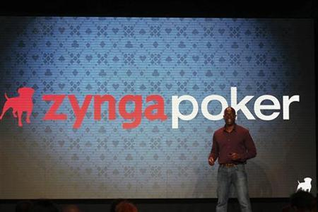 Zynga General Manager Lo Toney takes the stage at the Zynga Unleashed event at the company's headquarters in San Francisco, California October 11, 2011. REUTERS/Stephen Lam