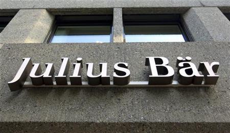The logo of Swiss private bank Julius Baer is seen at the company's headquarters in Zurich August 13, 2012. REUTERS/Arnd Wiegmann
