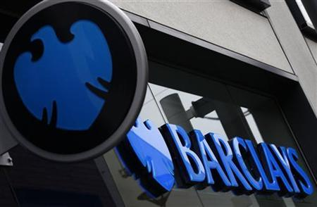 A logo of Barclays bank is seen outside a branch in Altrincham, northern England April 26, 2012. REUTERS/Phil Noble