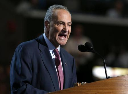 U.S. Senator Charles Schumer (D-NY) addresses the second session of the Democratic National Convention in Charlotte, North Carolina September 5, 2012. REUTERS/Eric Thayer