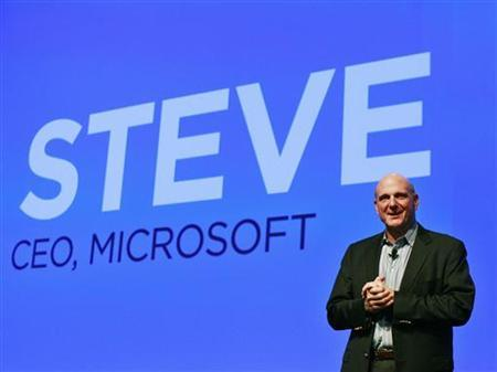 Microsoft CEO Steve Ballmer speaks during a launch event for new HTC Microsoft Windows phones in New York September 19, 2012. REUTERS/Brendan McDermid