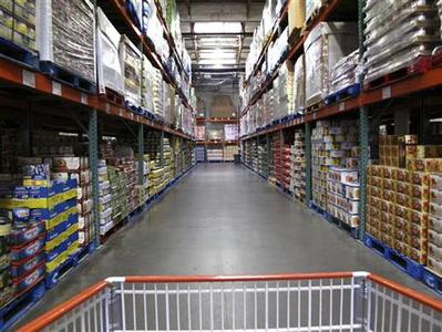 The warehouse style of shopping is shown inside a Costco store in Carlsbad, California February 28, 2012. Costco will report earnings this week. REUTERS/ Mike Blake