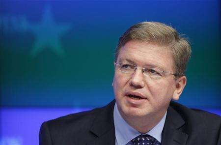 European Enlargement Commissioner Stefan Fule holds a news conference after an EU-Iceland accession conference in Brussels December 12, 2011. REUTERS/Francois Lenoir
