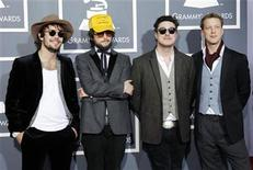 British rock band Mumford & Sons arrives at the 53rd annual Grammy Awards in Los Angeles, California February 13, 2011. REUTERS/Danny Moloshok