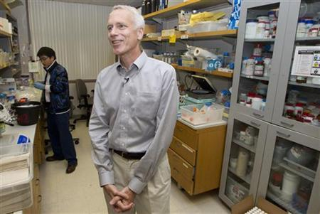 Dr. Brian Kobilka stands inside his lab at the Stanford School of Medicine at Stanford University in Palo Alto, California October 10, 2012. REUTERS/Norbert von der Groeben