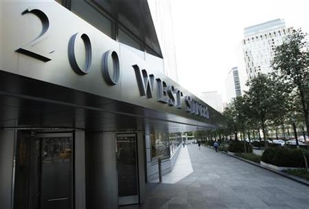 A sign shows the address of the Goldman Sachs headquarters building in New York July 19, 2010. REUTERS/Lucas Jackson