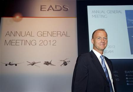 Tom Enders, the new CEO of EADS, poses ahead of the annual general meeting in Amsterdam May 31, 2012. REUTERS/Paul Vreeker/United Photos
