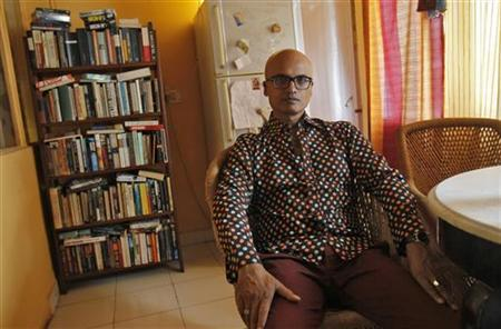 Jeet Thayil poses for a picture at his residence in New Delhi October 3, 2012. REUTERS/Mansi Thapliyal
