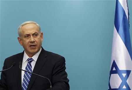 Israel's Prime Minister Benjamin Netanyahu speaks during a news conference in Jerusalem October 9, 2012. REUTERS/Ronen Zvulun