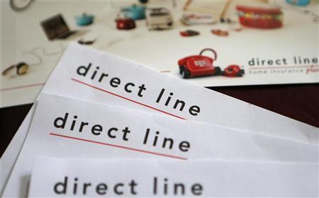 A photo illustration shows insurance renewal notices from Direct Line in London October 10, 2012. REUTERS/Suzanne Plunkett