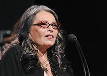 "Actress and reality show personality Roseanne Barr from the television show ""Roseanne's Nuts"" addresses the media during the Lifetime channel portion of the Press Tour for the Television Critics Association in Beverly Hills, California, July 27, 2011. REUTERS/Gus Ruelas"