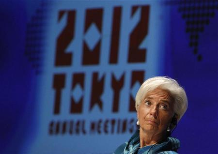 International Monetary Fund (IMF) Managing Director Christine Lagarde attends a debate program of seminars at the annual meetings of the IMF and the World Bank Group in Tokyo October 11, 2012. REUTERS/Issei Kato