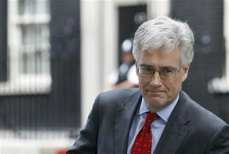 The Chairman of the Financial Services Authority (FSA) Adair Turner leaves Downing Street, in London July 12, 2009. REUTERS/Luke MacGregor