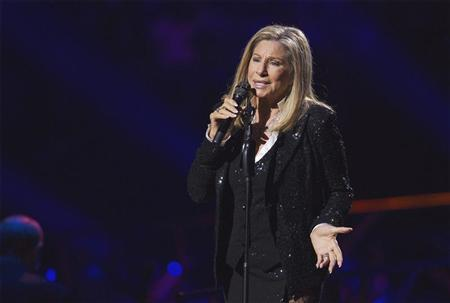 Singer Barbara Streisand performs at Barclays Center in the Brooklyn borough of New York, October 11, 2012. REUTERS/Lucas Jackson