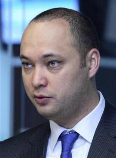 Maksim Bakiyev, the younger son of ousted Kyrgyz president Kurmanbek Bakiyev, attends the opening ceremony of the Central Asian Stock Exchange in Bishkek in this November 25, 2009 file photo. REUTERS/Vladimir Pirogov/Files