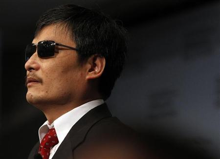 Blind activist Chen Guangcheng is pictured at the Council on Foreign Relations in New York May 31, 2012. REUTERS/Eric Thayer