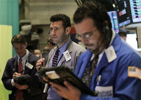 Traders work on the floor of the New York Stock Exchange, October 12, 2012. REUTERS/Brendan McDermid