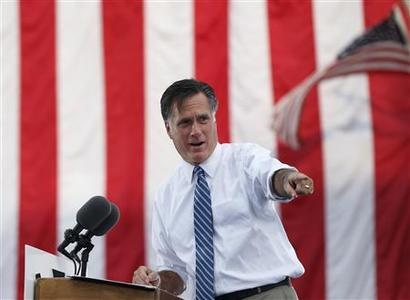 Republican presidential nominee Mitt Romney speaks during a campaign rally at the Golden Lamb in Lebanon, Ohio October 13, 2012. REUTERS/Shannon Stapleton