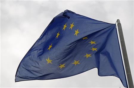 The European flag flies in front of the European Parliament in Strasbourg October 12, 2012. REUTERS/Vincent Kessler