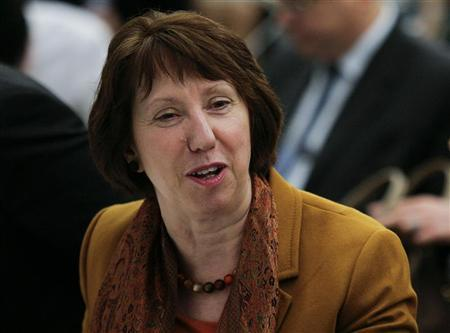 EU foreign policy chief Catherine Ashton attends a meeting of the Ad Hoc Liaison Committee, the donor support group for the Palestine, at the United Nations in New York, September 23, 2012. REUTERS/Eduardo Munoz