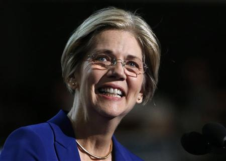 Elizabeth Warren, candidate for the U.S. Senate, Massachusetts, addresses the second session of the Democratic National Convention in Charlotte, North Carolina September 5, 2012. REUTERS/Eric Thayer