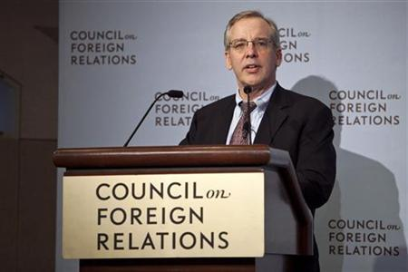 William C. Dudley, president and chief executive officer of the Federal Reserve Bank of New York, speaks at the Council on Foreign Relations in New York, May 24, 2012. REUTERS/Andrew Burton