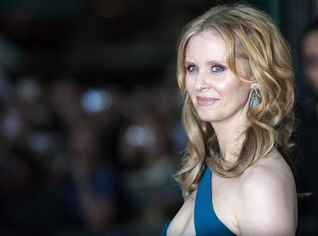 Actress Cynthia Nixon poses for photographers at the premiere of ''Sex and the City 2'' in Leicester Square, London May 27, 2010. REUTERS/Kieran Doherty