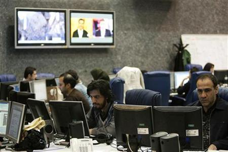 A view shows the Press TV's Newsroom in Tehran January 21, 2012. REUTERS/Raheb Homavandi/Files
