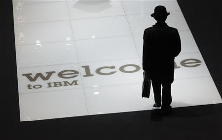 A man visits the stand of U.S. firm IBM at the CeBIT computer fair in Hanover in this March 2, 2010 file photo. REUTERS/Thomas Peter