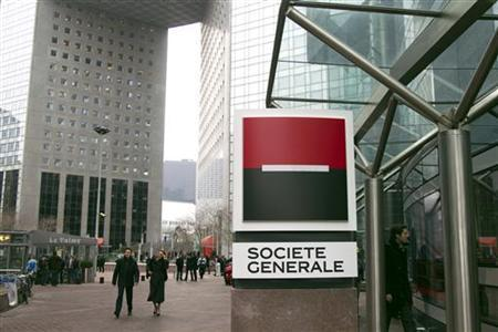 View of Societe Generale bank's headquarters in La Defense near Paris February 16, 2012. REUTERS/Charles Platiau