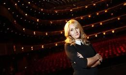 "Author J.K. Rowling poses for a portrait while publicizing her adult fiction book ""The Casual Vacancy"" at Lincoln Center in New York October 16, 2012. REUTERS/Carlo Allegri"