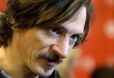 """Actor John Hawkes talks to the media before the screening of the film """"The Surrogate"""" during the Sundance Film Festival in Park City, Utah January 23, 2012. REUTERS/Jim Urquhart"""