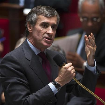 France's Budget Minister Jerome Cahuzac speaks during the questions to the government session at the National Assembly in Paris October 9, 2012. REUTERS/Charles Platiau