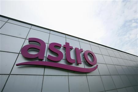 Company logo of Malaysia's pay-TV firm Astro at its headquarters in Kuala Lumpur in this September 12, 2012 file photo. REUTERS/Bazuki Muhammad/Files