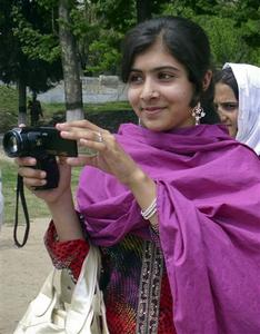 Malala Yousufzai, a 14-year-old schoolgirl, who was wounded in a gun attack, is seen in Swat Valley, northwest Pakistan, in this undated file photo. REUTERS-Hazart Ali Bacha-Files