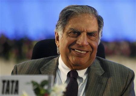 Ratan Tata, chairman of the Tata Group, speaks during the Vibrant Gujarat Global Investors Summit 2011 (VGGIS) at Gandhinagar in Gujarat January 12, 2011. REUTERS/Amit Dave/Files