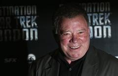William Shatner who plays Captain James T. Kirk in the original version of Star Trek arrives at the Destination Star Trek London event October 19, 2012. REUTERS/Suzanne Plunkett