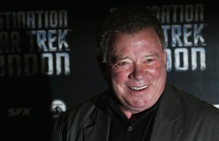 William Shatner who plays Captain James T. Kirk in the original version of Star Trek arrives at the Destination Star Trek London event October 19, 2012. REUTERS/Suzanne Plunkett