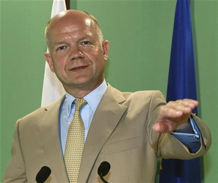 British Foreign Secretary William Hague speaks during a news conference in Nicosia, Cyprus September 7, 2012. REUTERS/Andreas Manolis