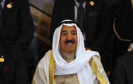Kuwait's Emir Sheikh Sabah al-Ahmad Al-Sabah smiles during the opening session of the 23rd Arab League summit in Baghdad March 29, 2012. REUTERS/Saad Shalash/Files