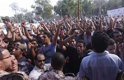 Protesters break into grounds of Libya's parliament