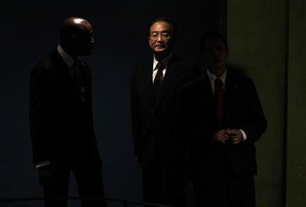 China's Premier Wen Jiabao arrives to speak during the Millennium Development Goals Summit at U.N. headquarters in New York in this September 22, 2010 file photo. REUTERS-Shannon Stapleton-Files